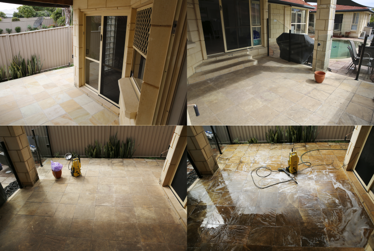 Pressure clean before after
